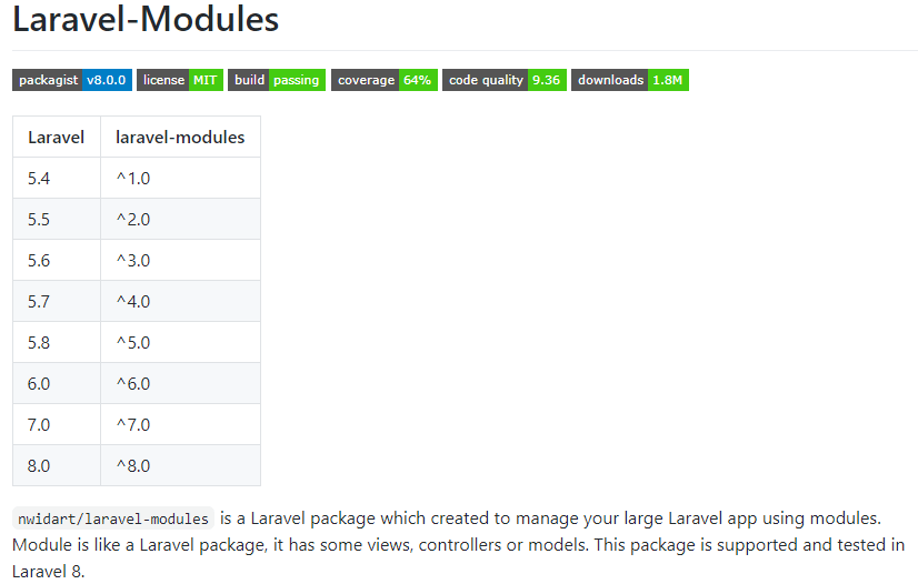 laravel modules